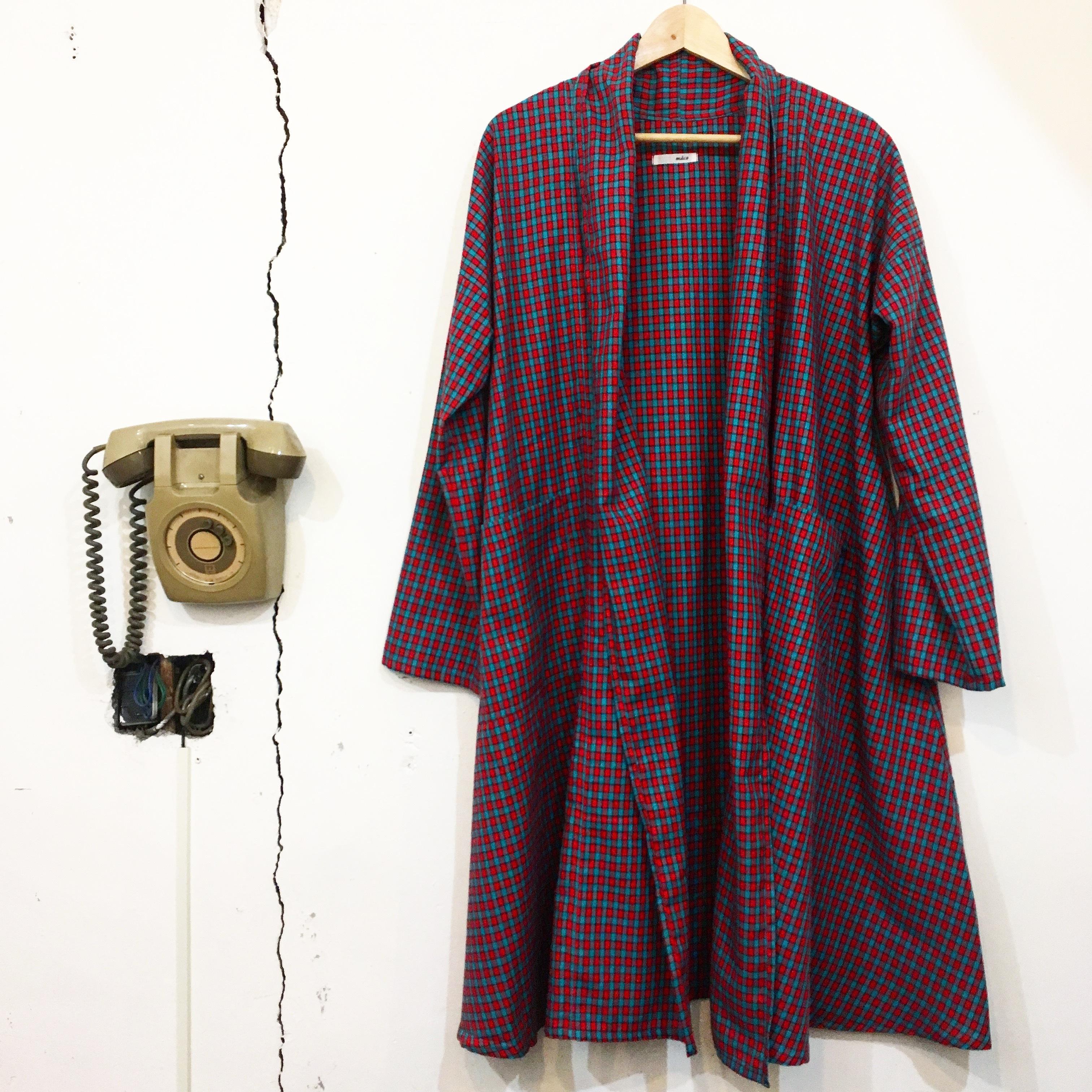 """【maco】""""星の王子さま""""コート(赤ミントグリーン ブロックチェック)"""