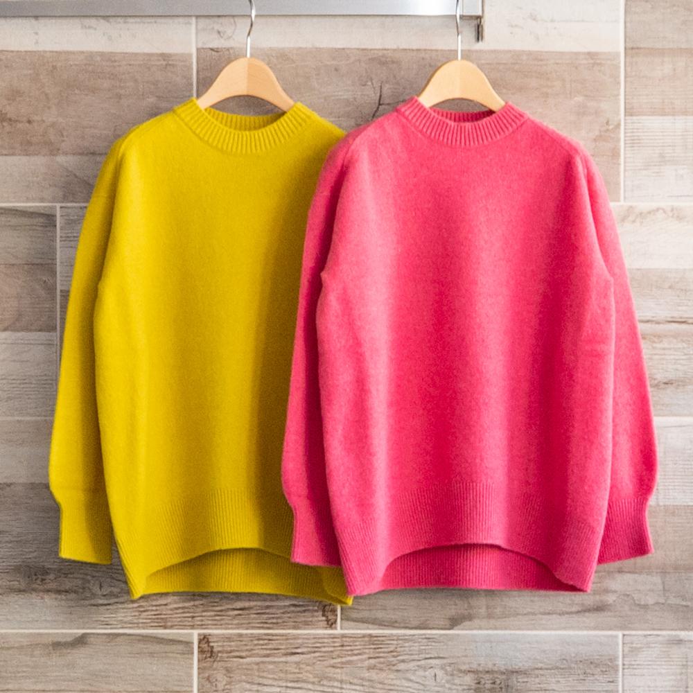 カシミヤブレンドクルーネックセーター