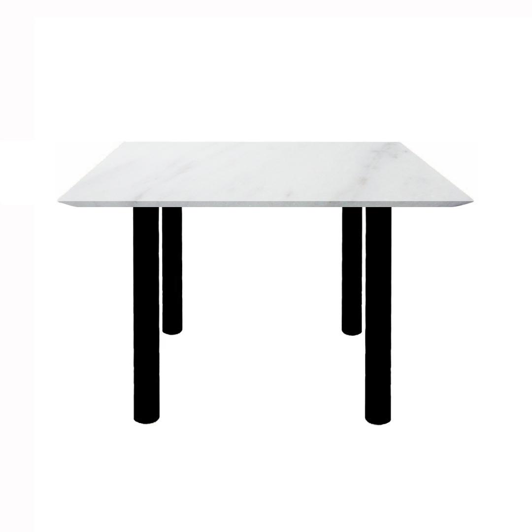 マニスティ ダイニングテーブル 4本脚(ビアンコカララ)