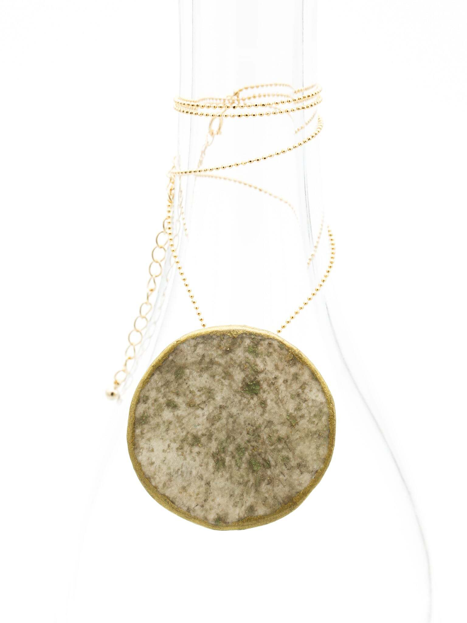 """Moon"" Japanesepaper 2way brooch&necklace"