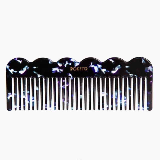 "poketo ""Wave Comb in Midnight"" コーム 櫛"