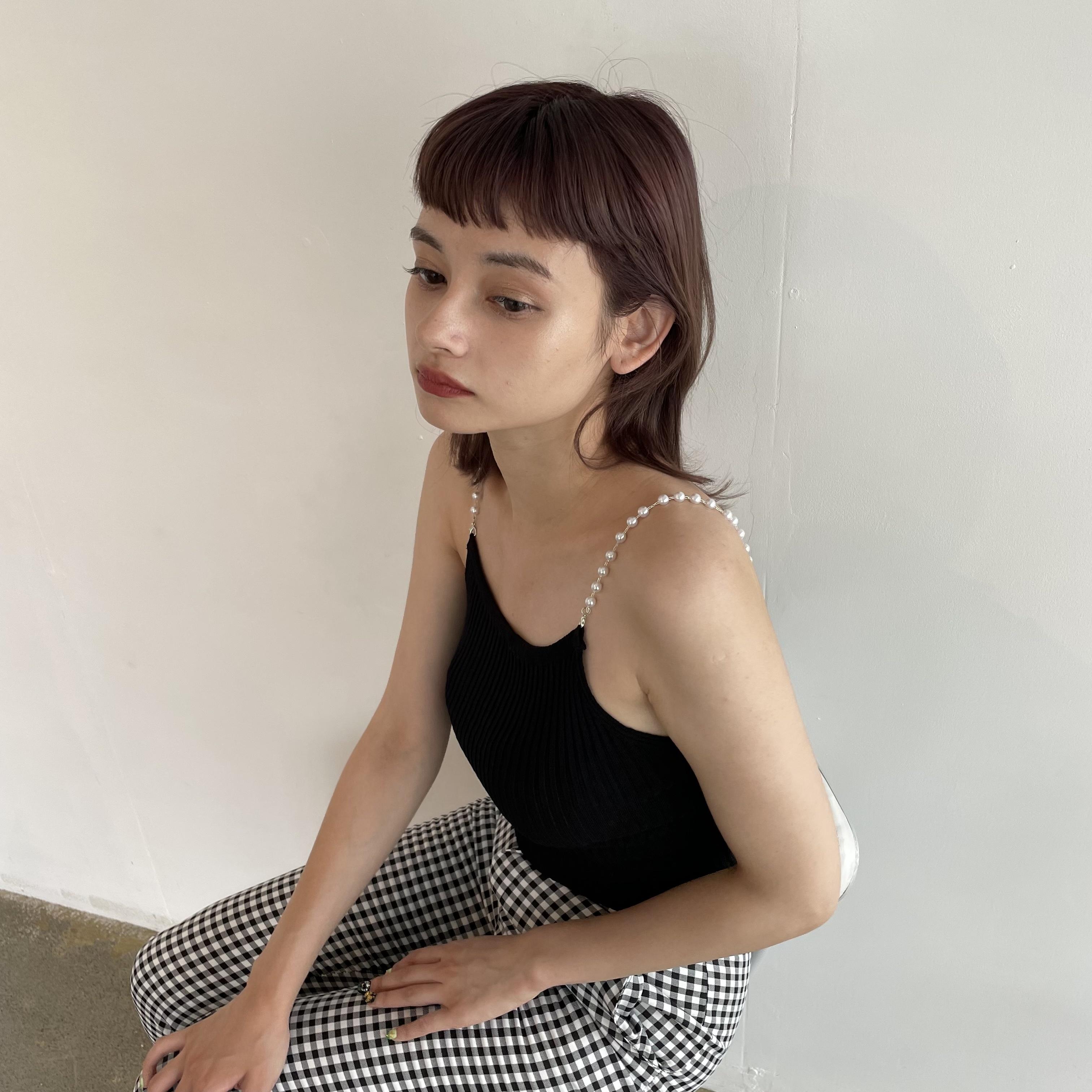 【Belle】pearl camisol / black