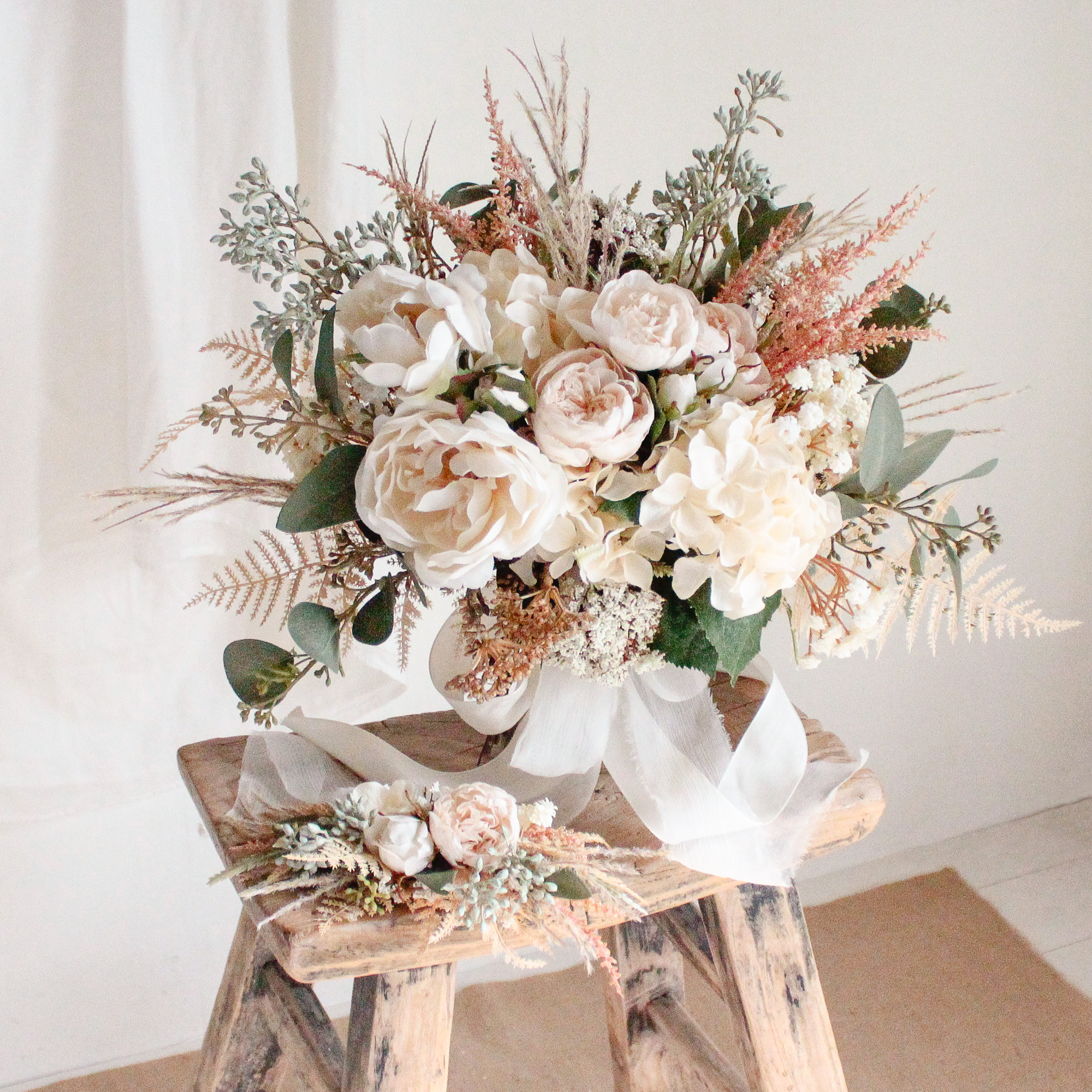 【再販】Pale color Bouquet&Boutonniere