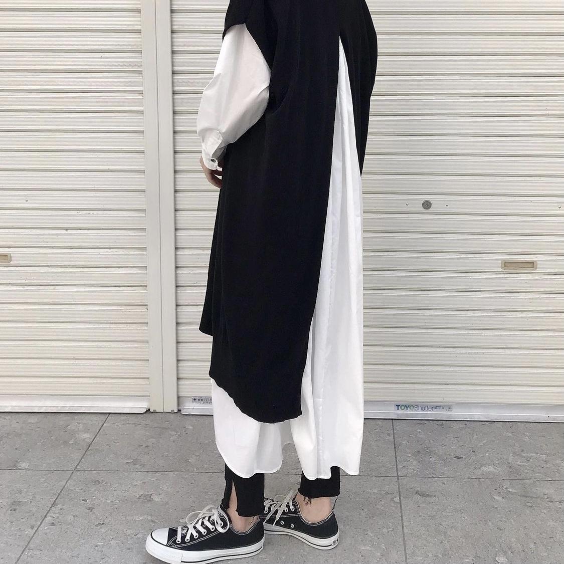 ご予約受付中!8月下旬納期【 siro de labonte 】- R143107 - 32/2 cotton long vest