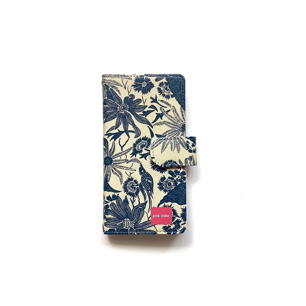 北欧デザイン iPhone手帳型ケース  | paradise navy