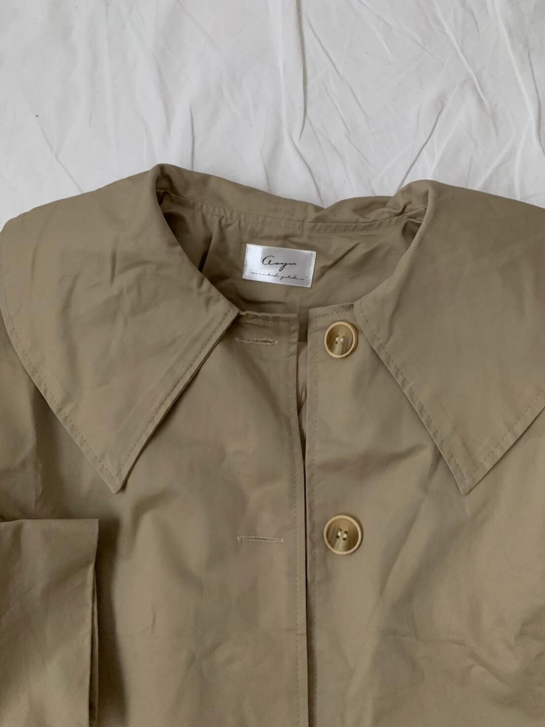 【asyu】short trench jacket