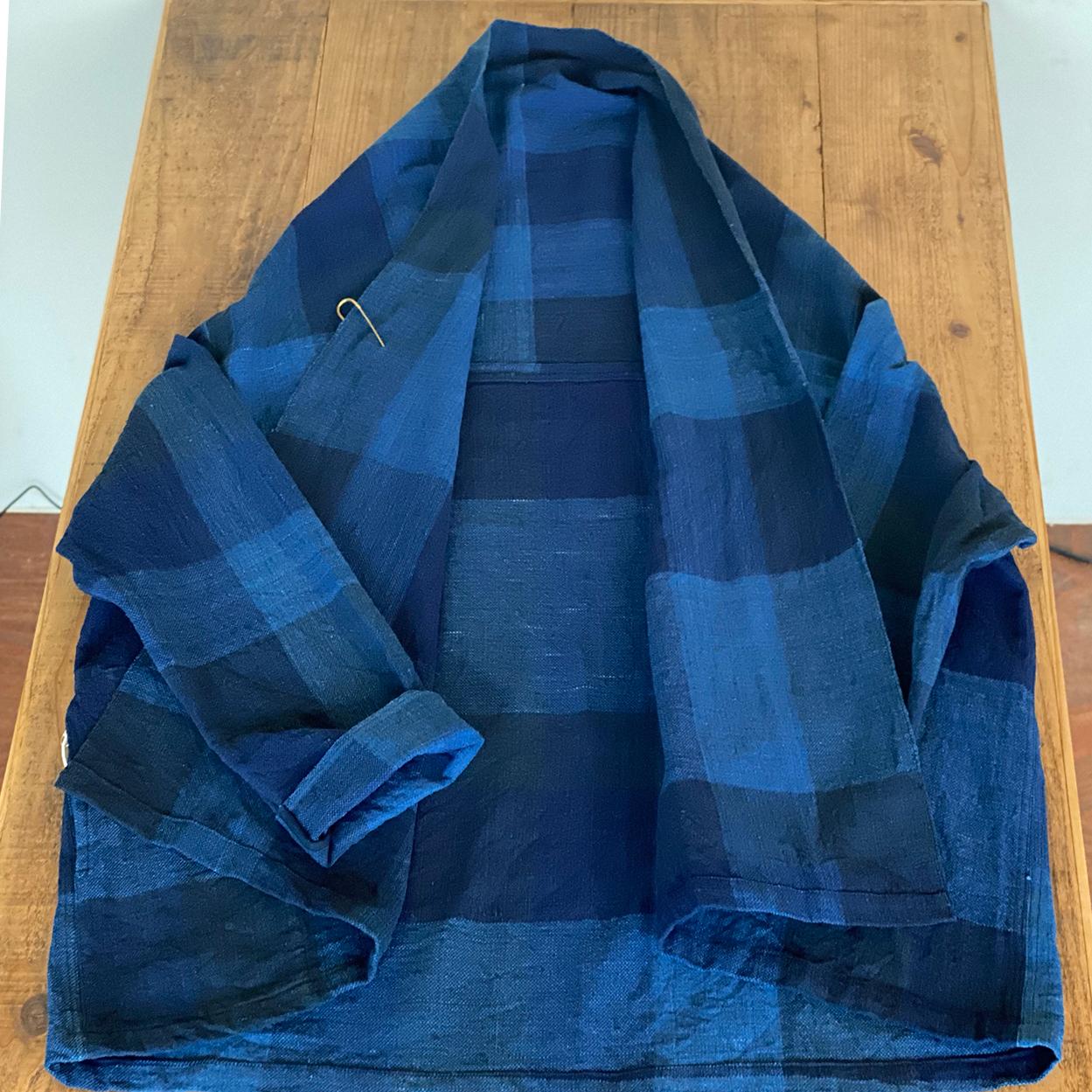[ジャケット:格子]中厚ドソティ手織り