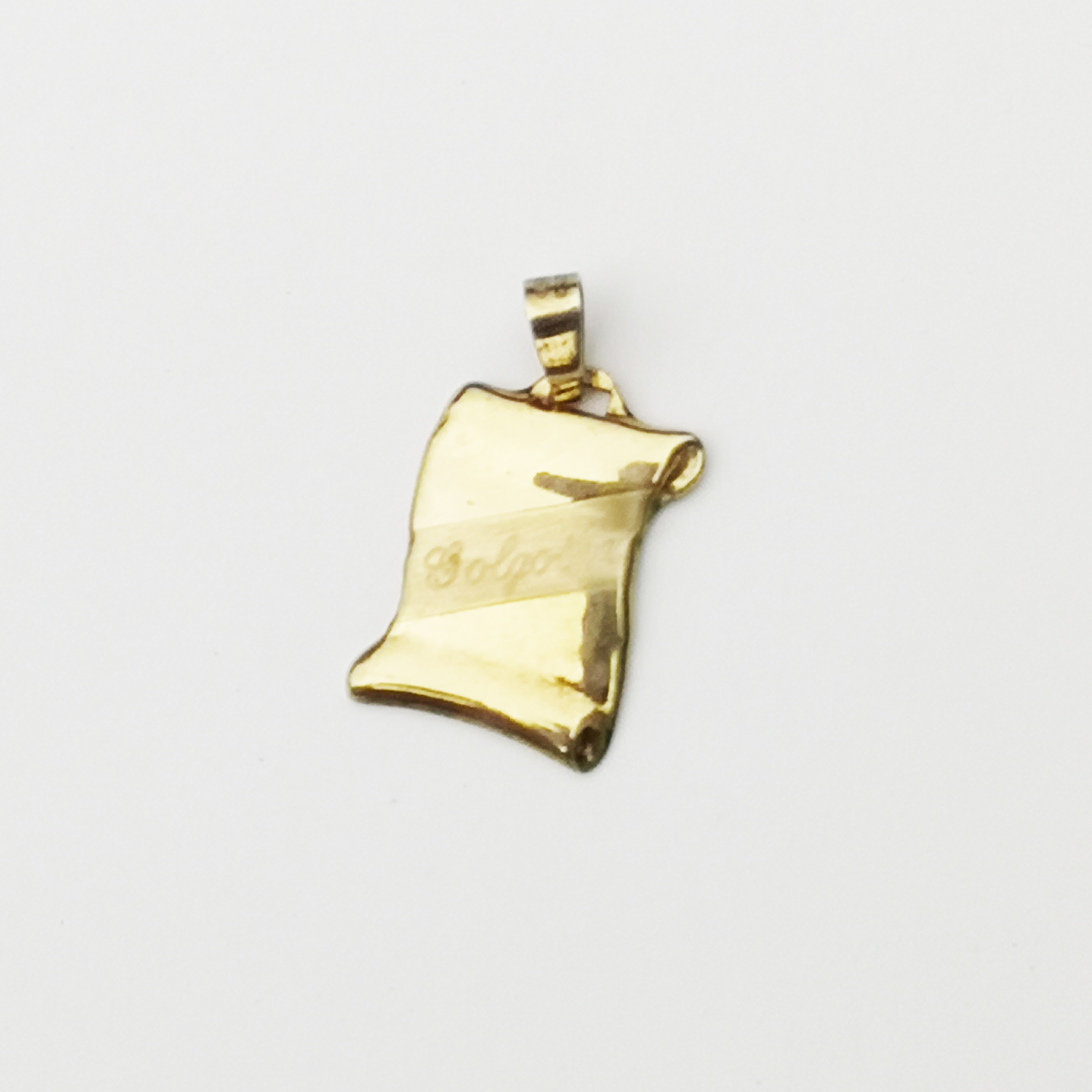 PAPER PENDANT TOP (GOLGOTHA) / 925 Sterling Silver plated in 23K Gold