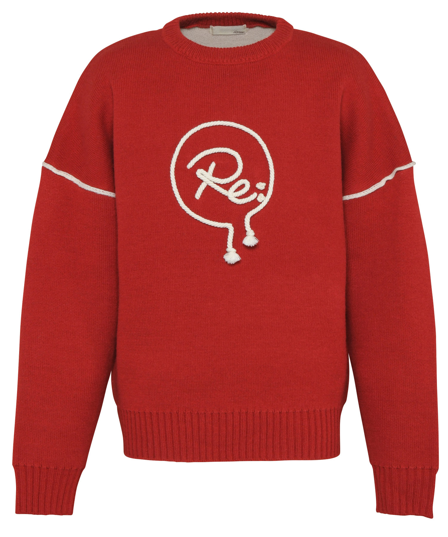 R ICON ROPE EMBROIDERY BIG CREW KNIT[REK089]