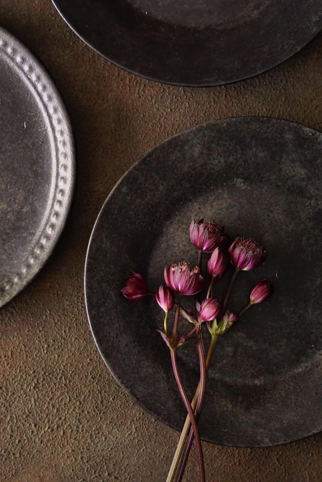 A1サイズ:繊細な錆び色ブラウンブラック beautiful-rustic