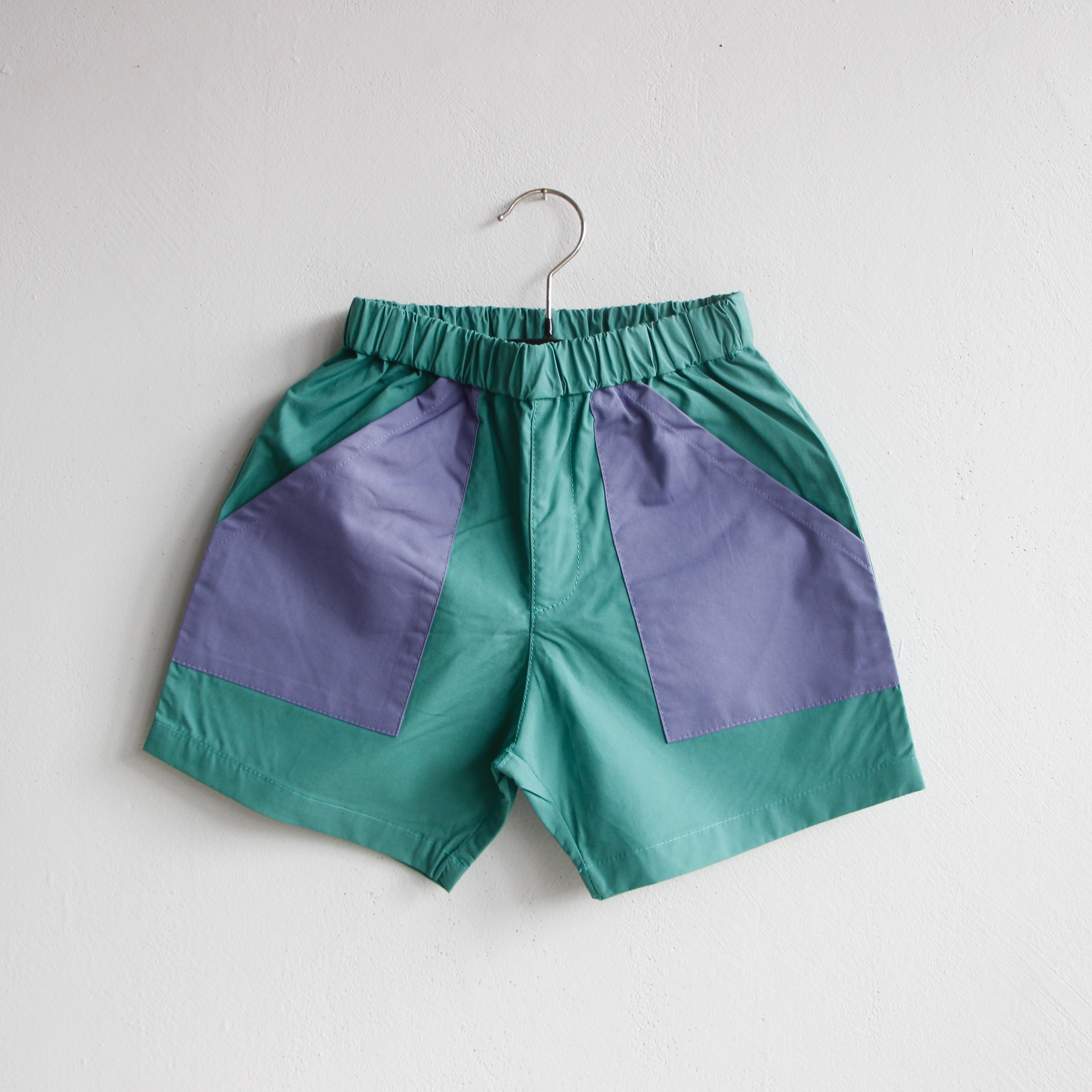 《eLfinFolk 2021SS》typwriter shorts / emerald green / 80-130cm