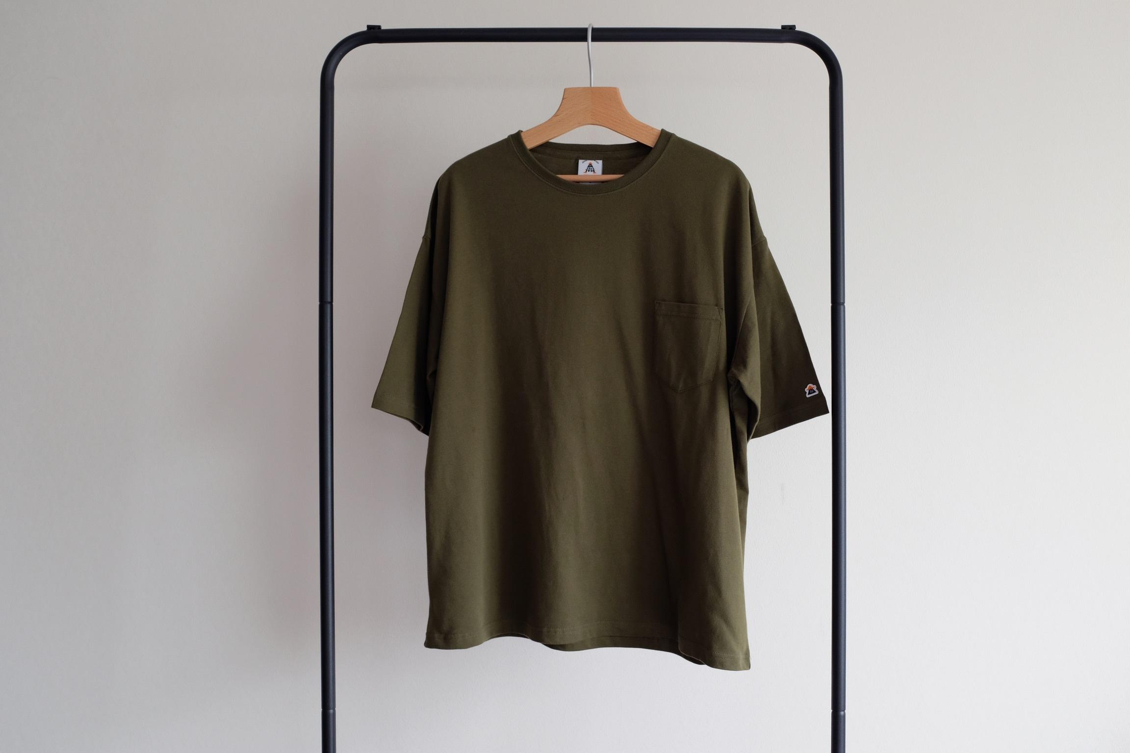Oversize pocket tee[Olive green]