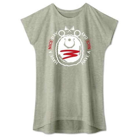 キャラT42 たこさんwinなー ミニハンバーグのナイスくん* ワンピースタイプTシャツ