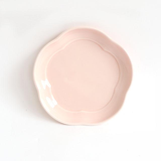 花丸皿(11.5cm) 可愛いカタチの小皿 ノアチェリー【2053-6210】