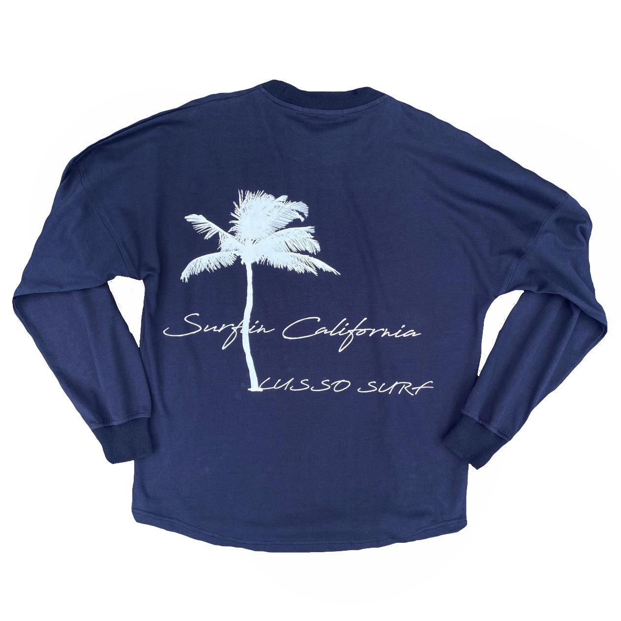 Palm tree Long sleeve Tee【Navy】