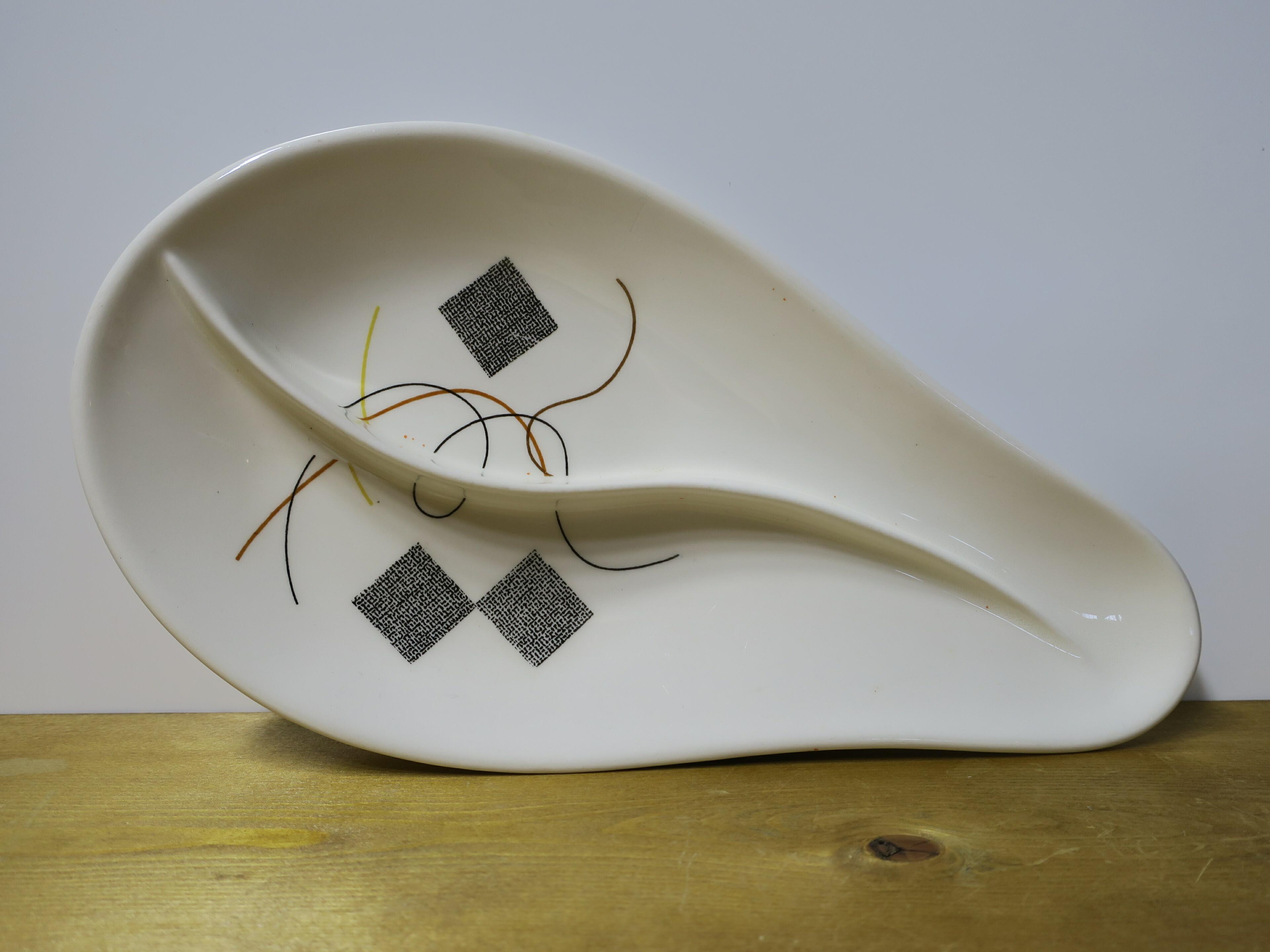 ヴィンテージU.S.A パーテーションプレート(陶器製) 幾何学模様