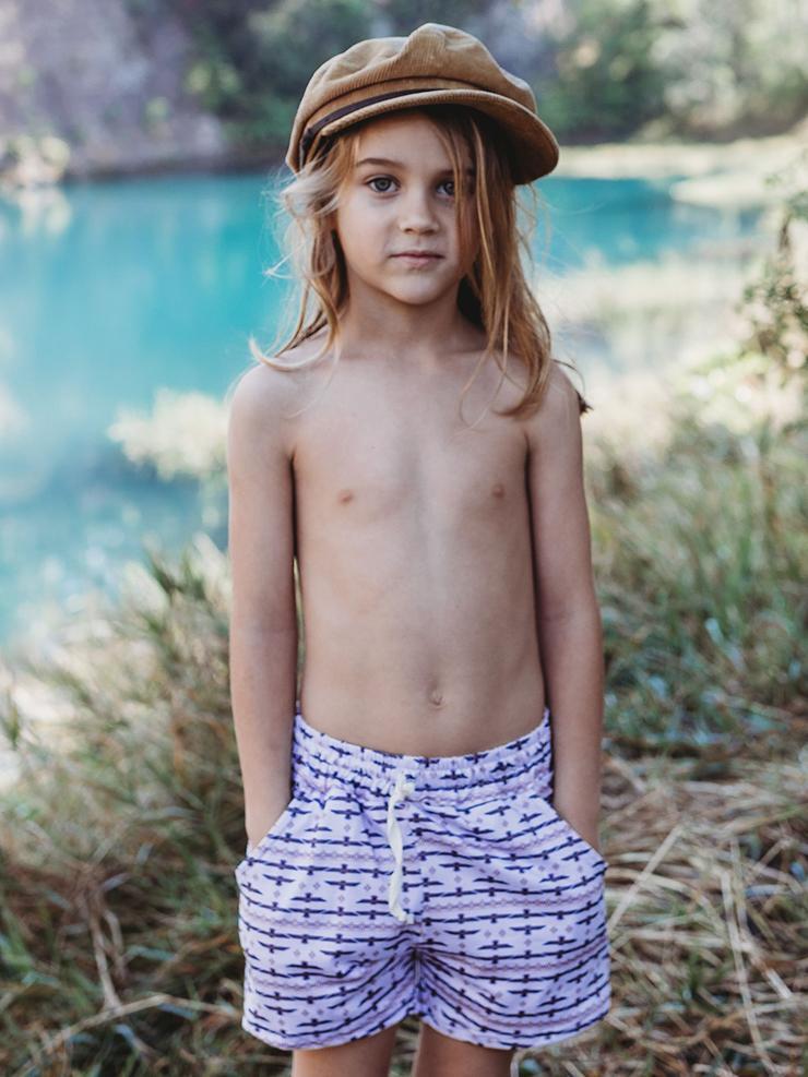 Artemis and apollo kids / Totem Print shorts
