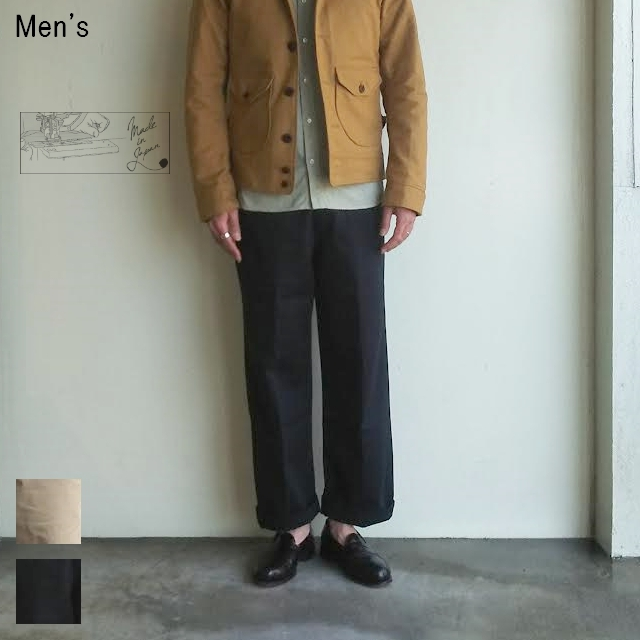 UpscapeAudience ワーカーズチノワイドインステップカットパンツ WORKERS CHINO WIDE PANTS AUD3348 (NAVY)