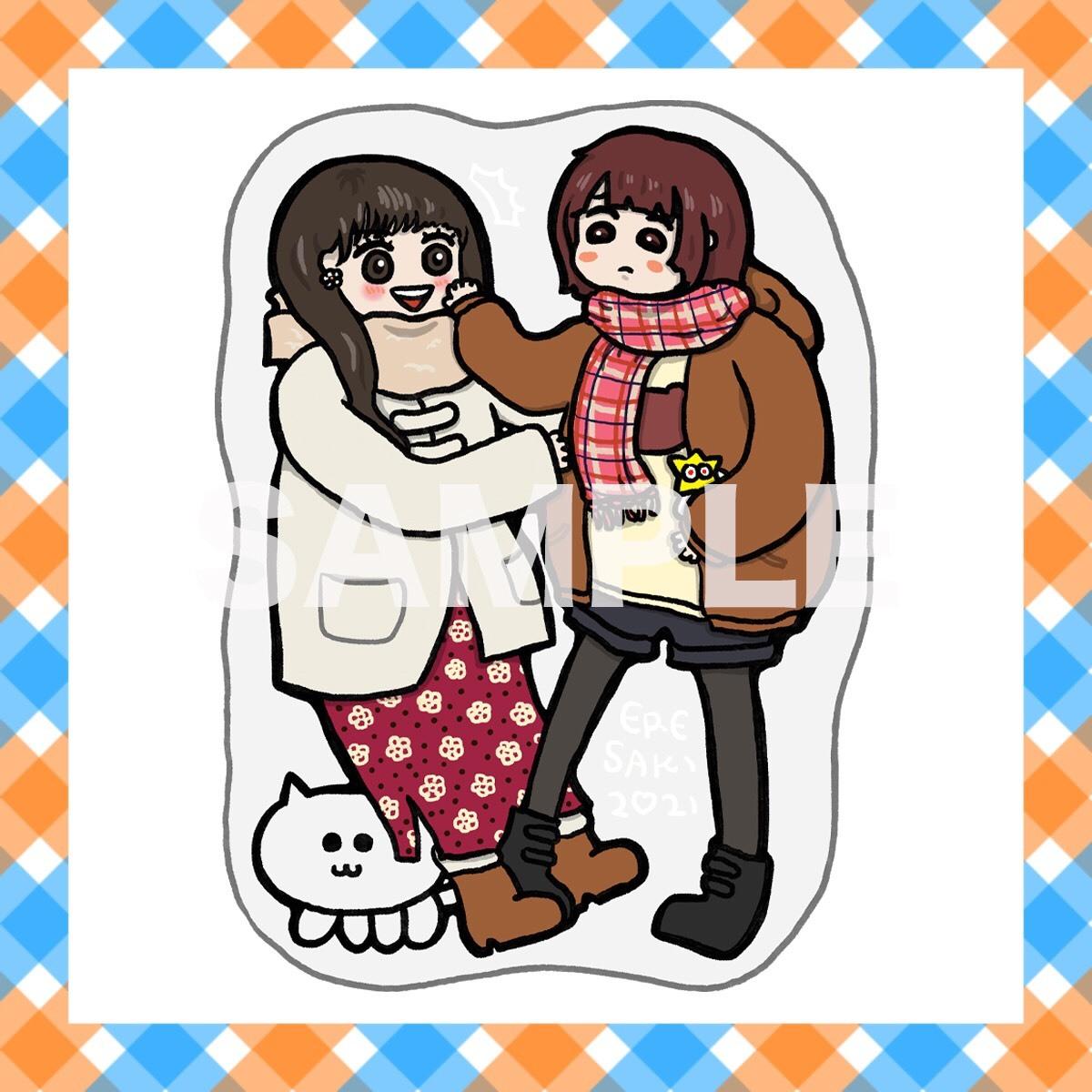 【コラボ商品】絵恋ちゃん×里咲りさ イチャイチャアクリルスタンド