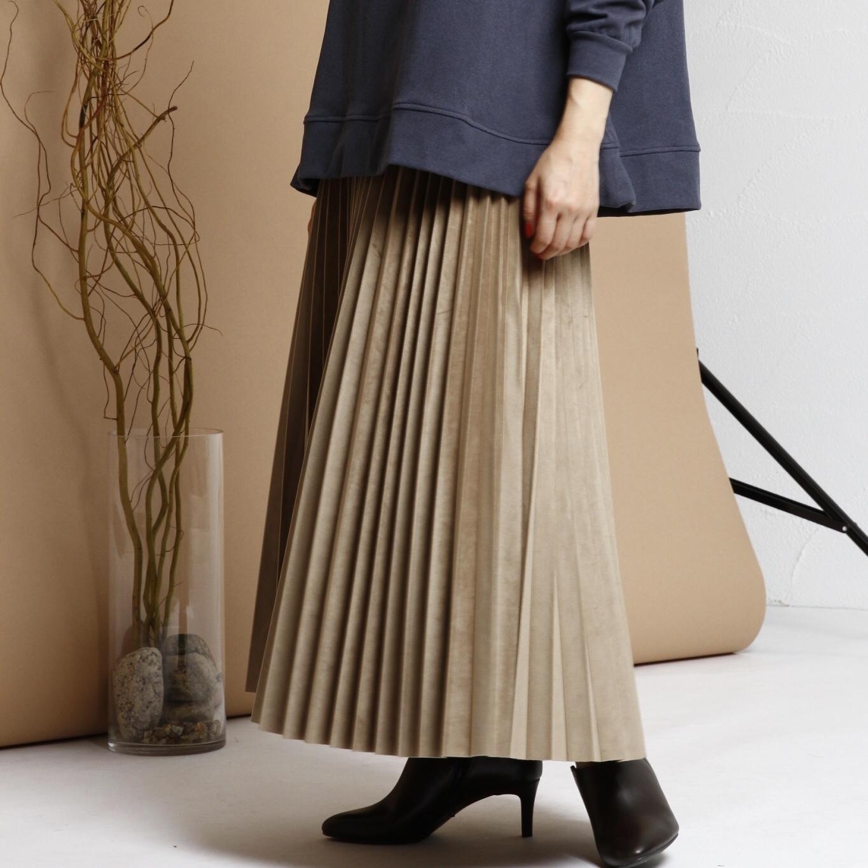 ★ご予約品★9/13.14 instalive① 【 ROSIEE 】- R293204 - ベロアプリーツスカート