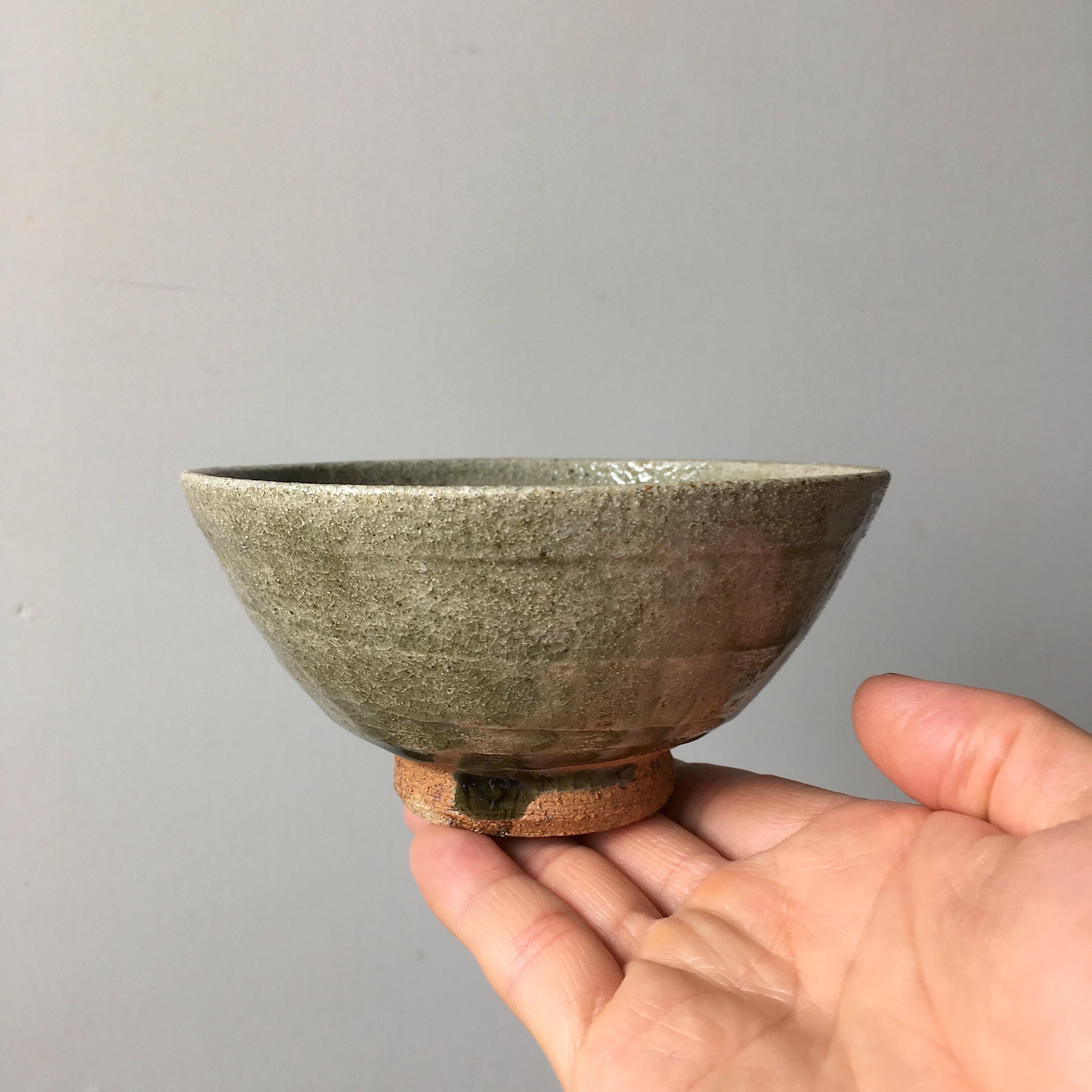 灰釉薬飯碗 中サイズ  / kanya yamamoto