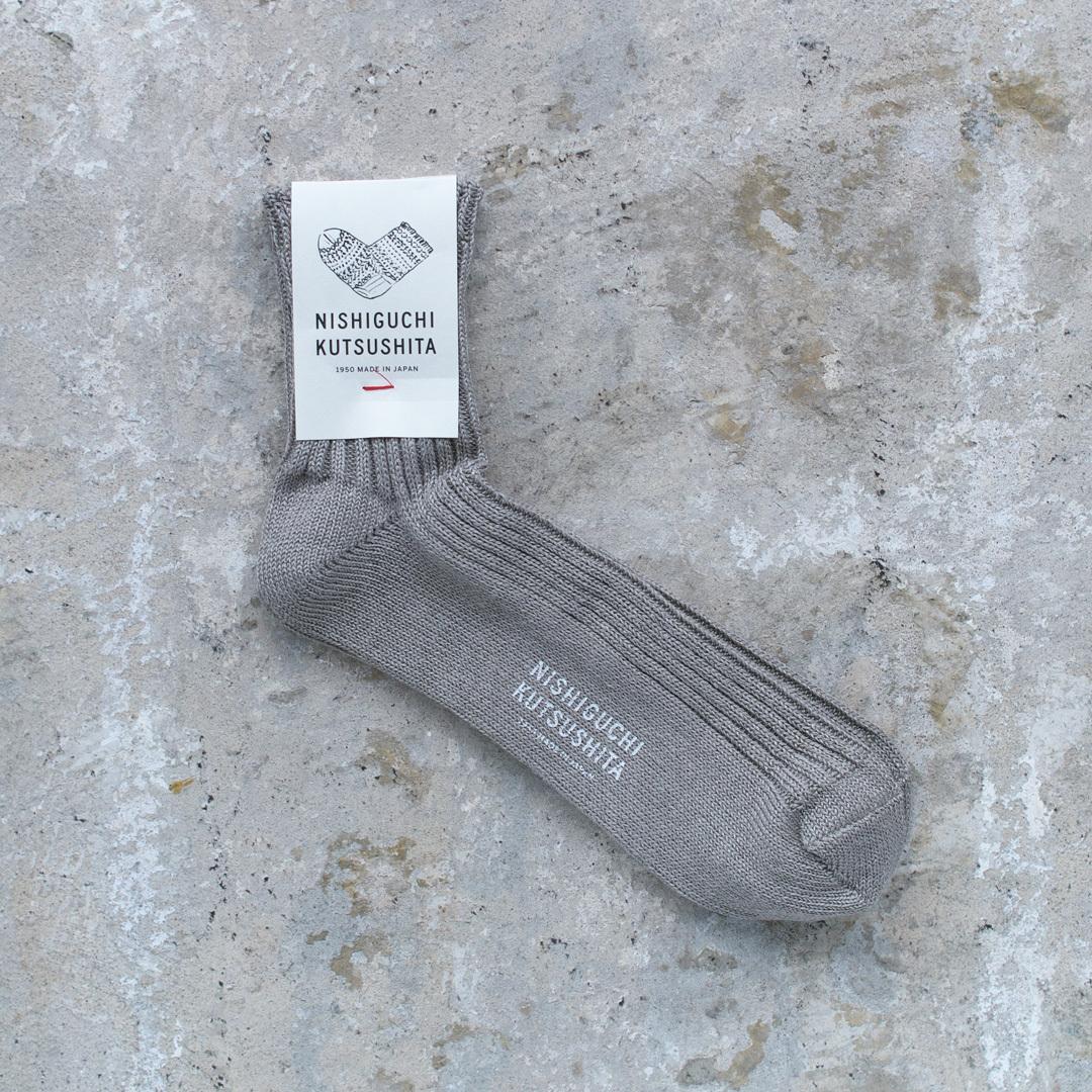 NISHIGUCHI KUTSUSHITA 西口靴下 リネンリブソックス M / LINEN RIBBED SOCKS M【メンズ】