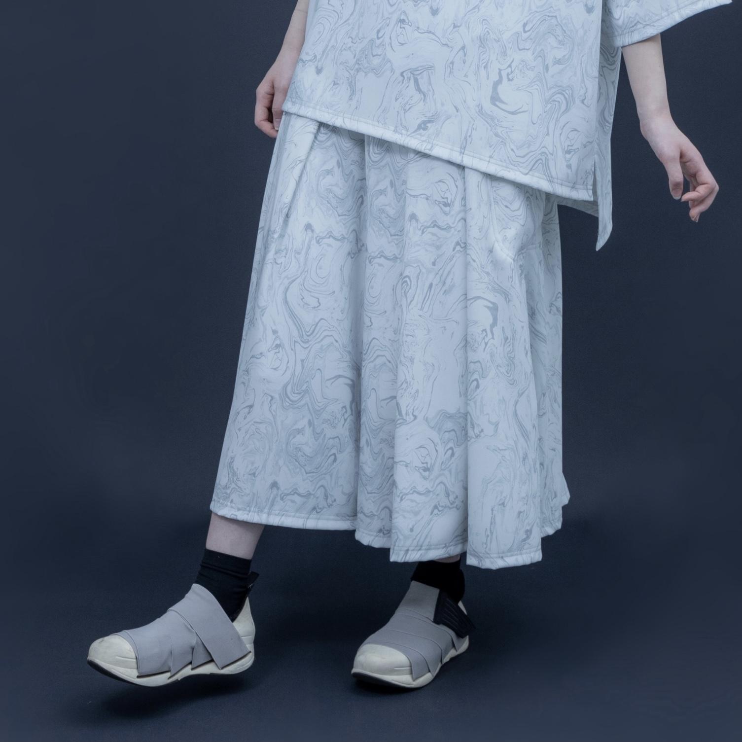 【オーダー受付】Hakama-Pants1.1 (grey marble)