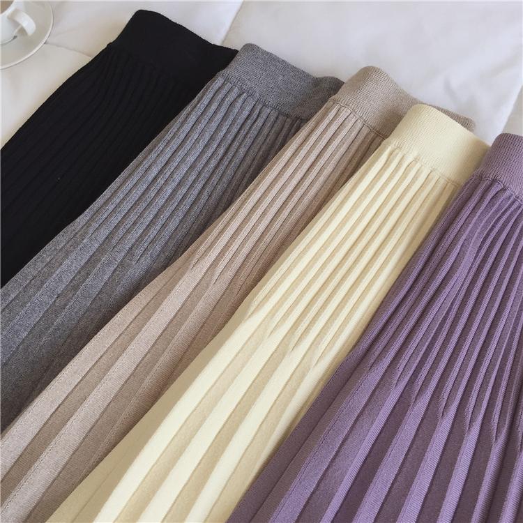 〈カフェシリーズ〉ウエストシャーリングプリーツスカート【fwaist shirring pleats skirt】