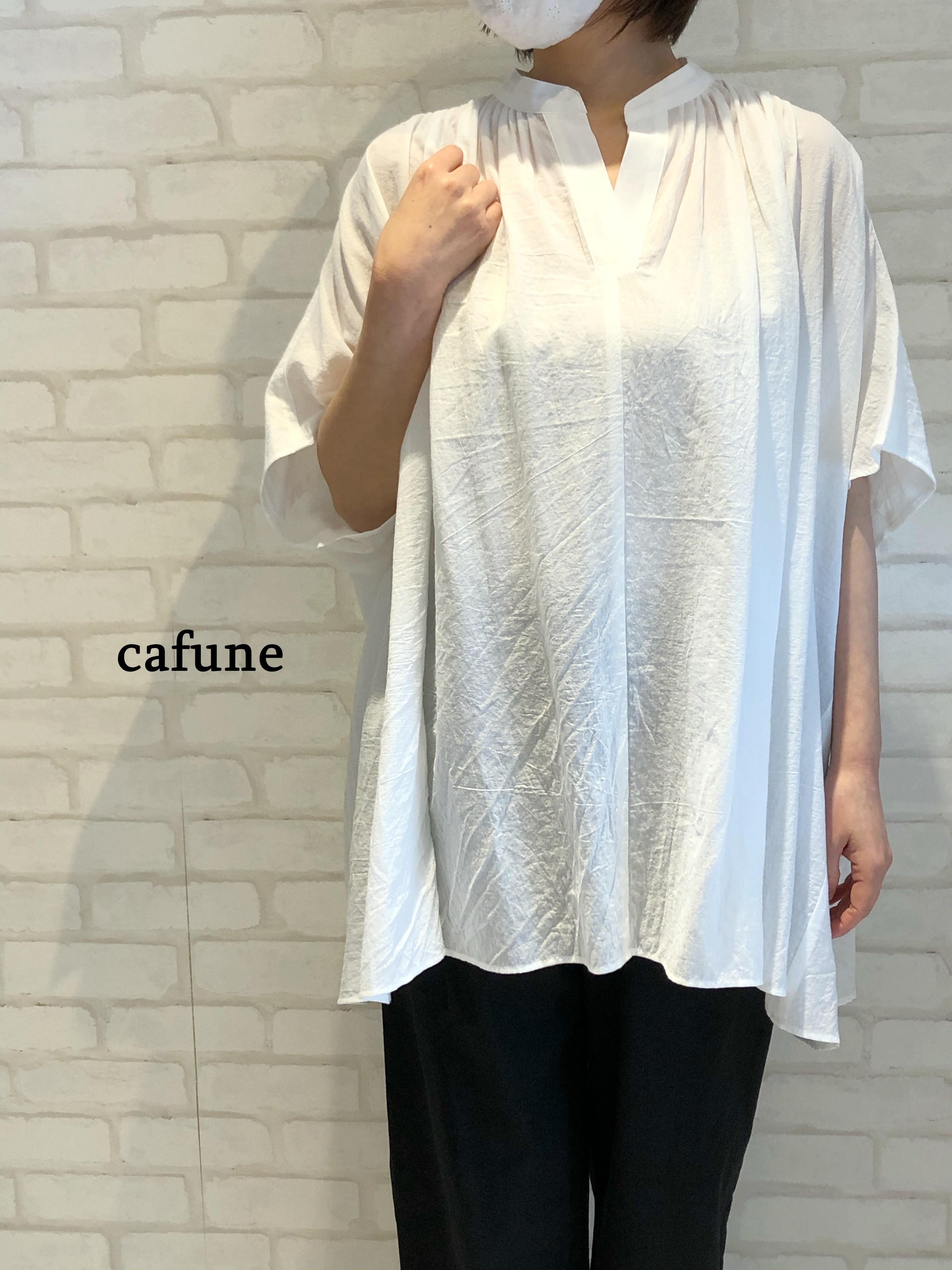 cafune/125912/スッキッパーデザインブラウス(ホワイト)