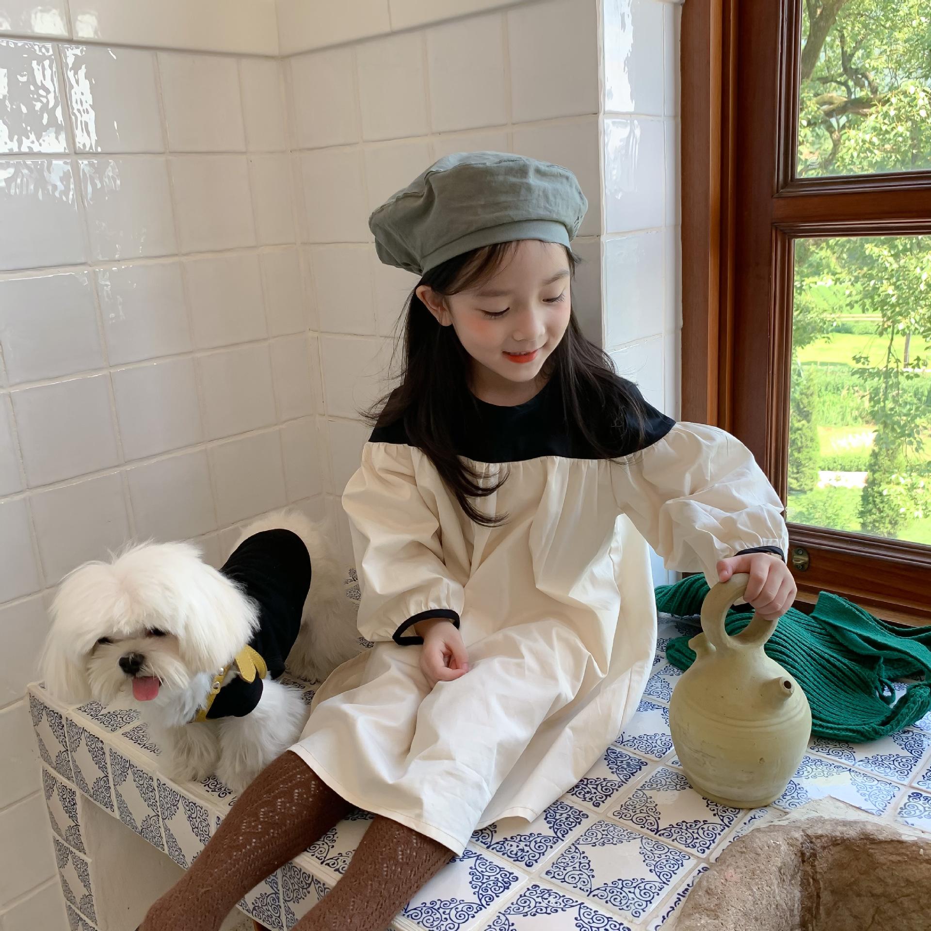 【即納】シックワンピース ビッグシルエット AW 秋冬 韓国子供服