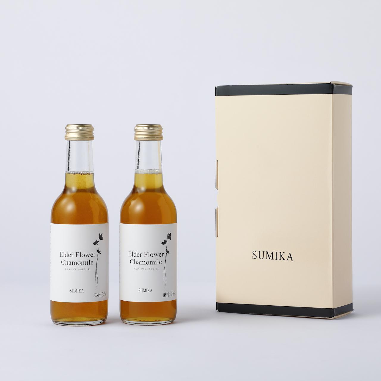 """【GIFT BOX】Elderflower Chamomile syrup(245ml×2)/ エルダーフラワーカモミールシロップ ギフトボックス """