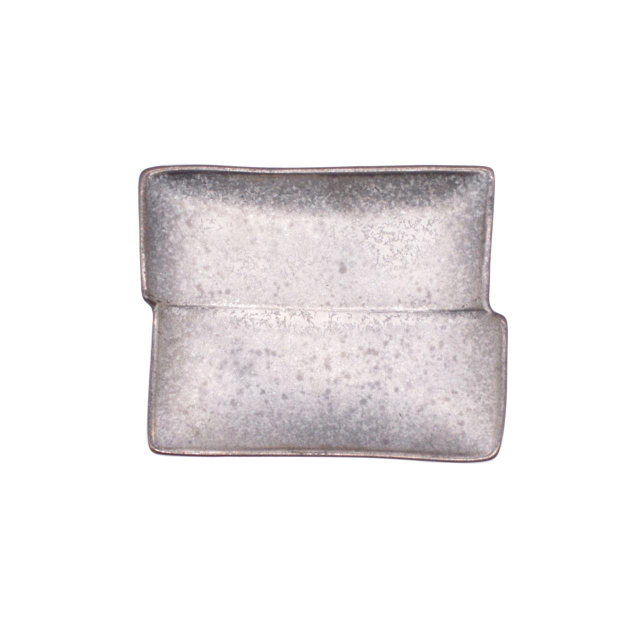 【限定1点 アウトレット品】有田焼 角型 小皿 銀塗 252458 豆豆市013