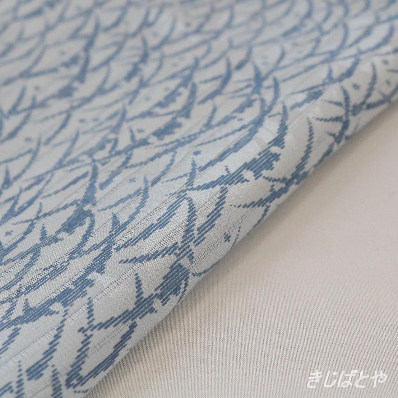 正絹絽 露芝の夏帯揚げ 蒼白