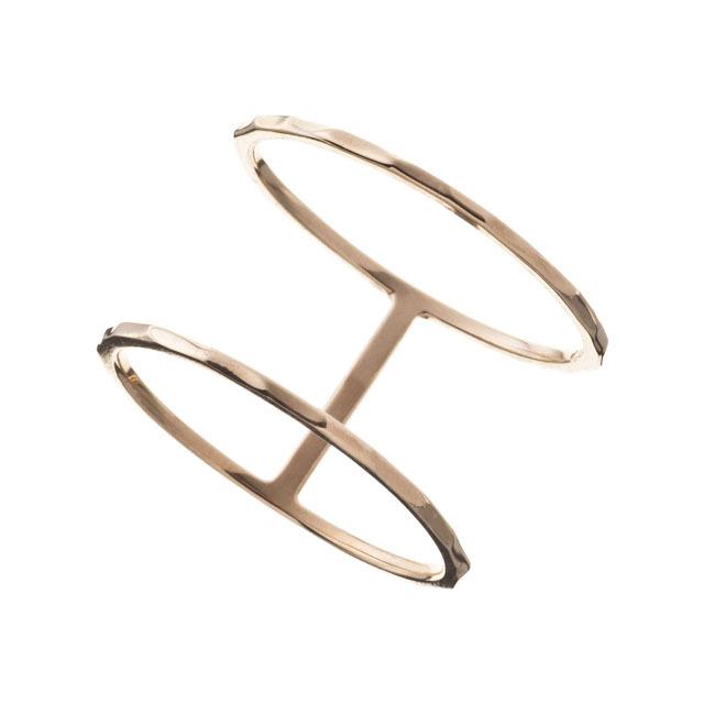 K10 Double Ring 10金ダブルリング ELR0005G