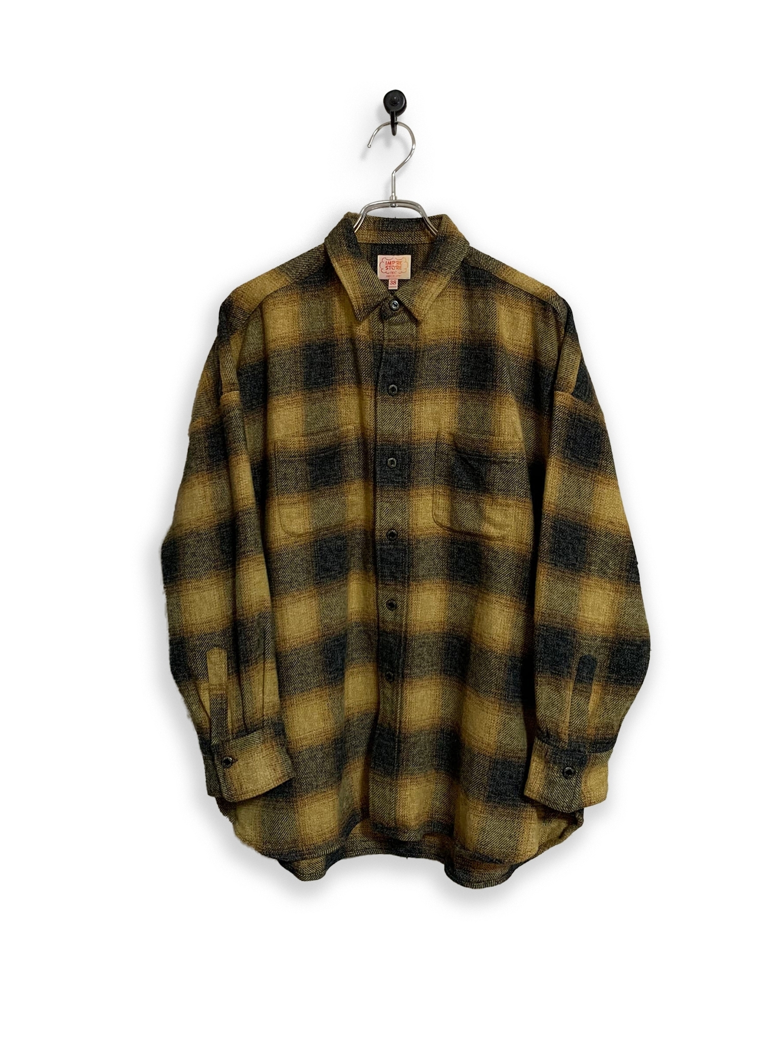 Onbray check flannel shirt  / yellow