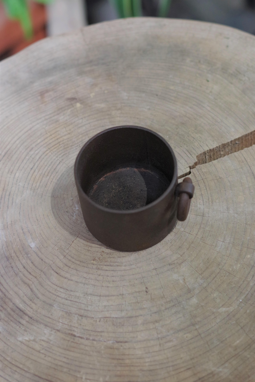 錆付け環付鉄鉢(中)②【大貫 タツヤ】