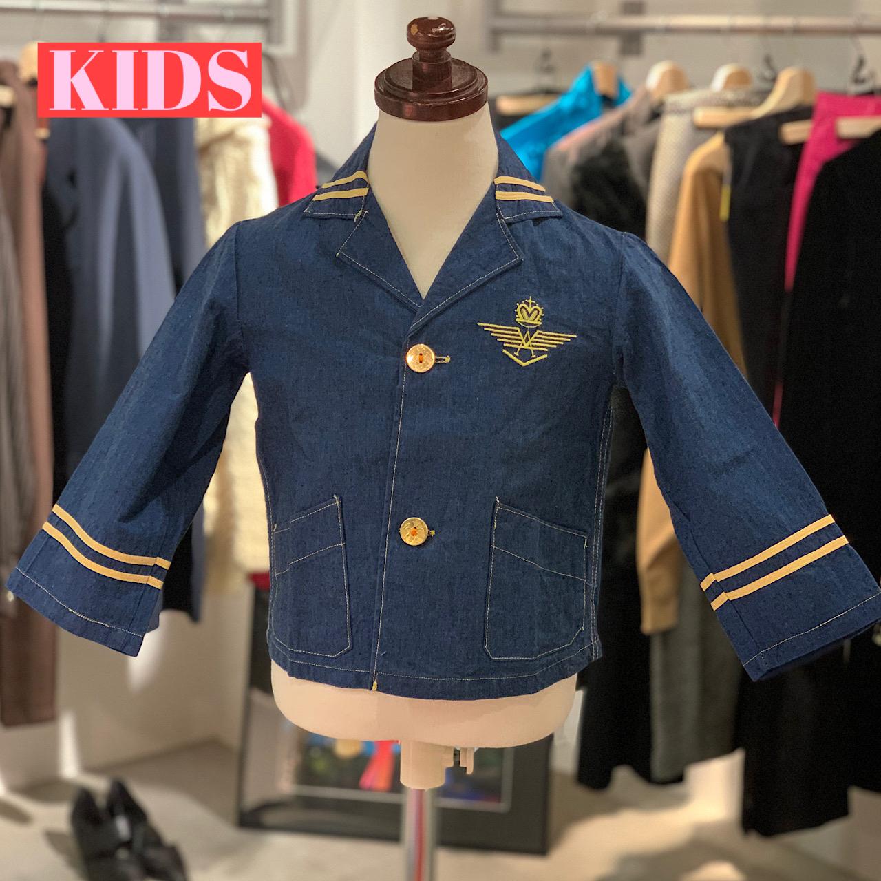 【送料無料】【KIDS】VINTAGE 60's blue boy jacket - French -Size 4 years old-