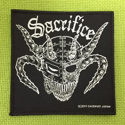 "SACRIFICE ""Crest Of Black"" 刺繍パッチ (四角型)"
