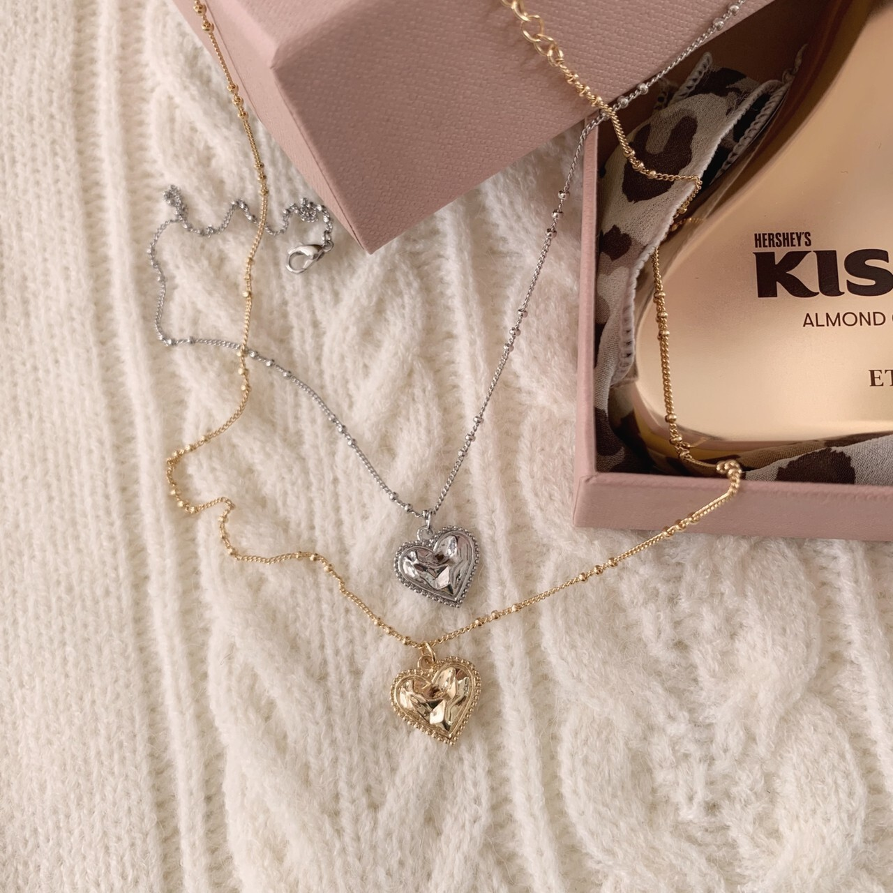 再販【meltie】petit heart necklace