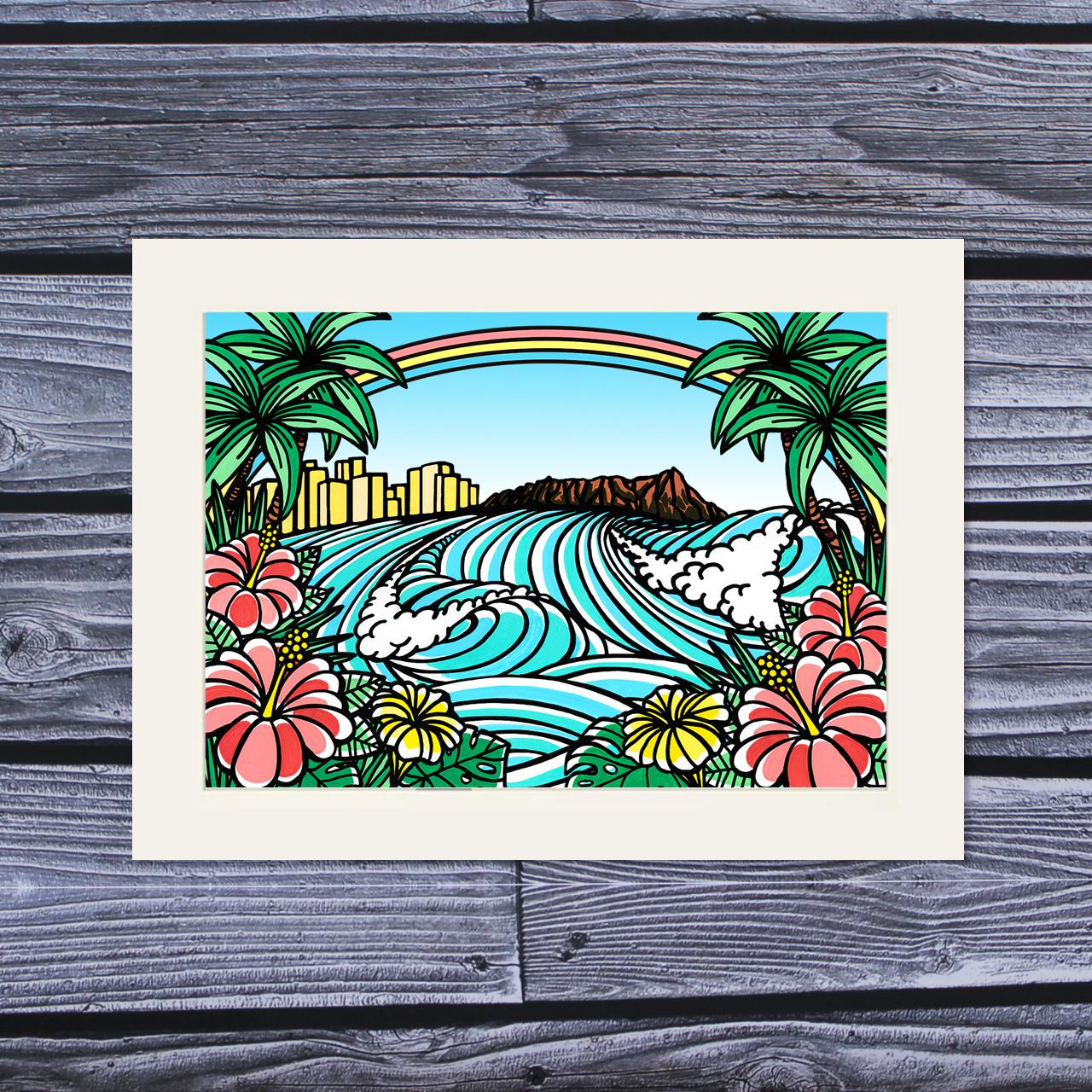 アートプリント A4(Town of Hawaii)