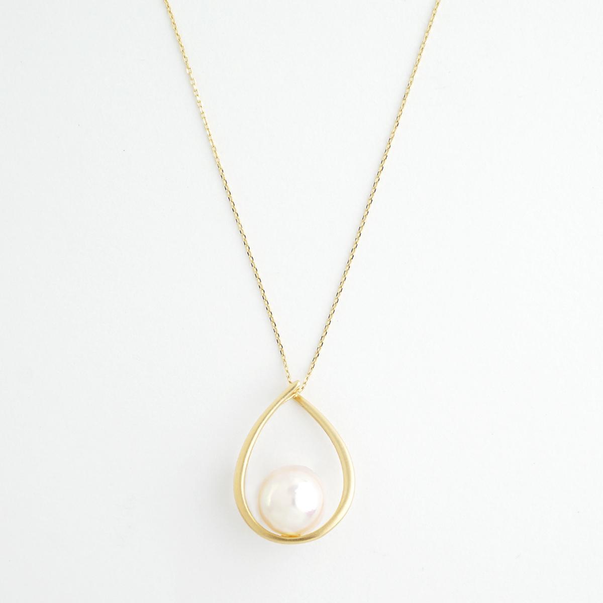 Akoya pearl drop necklace