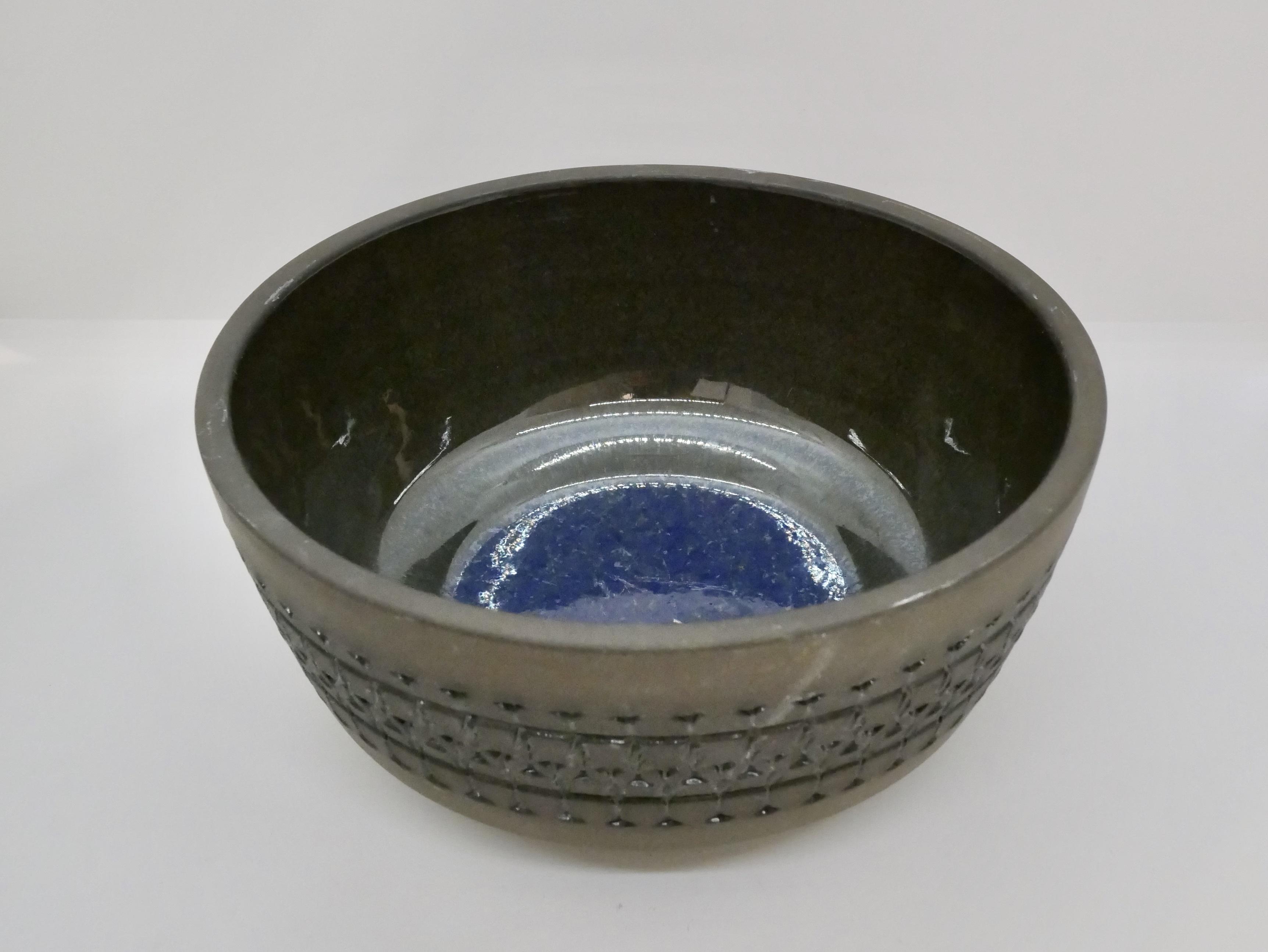 Alingsas Keramik(アリングソース・ケラミック) ブルーとブラウンのボウル