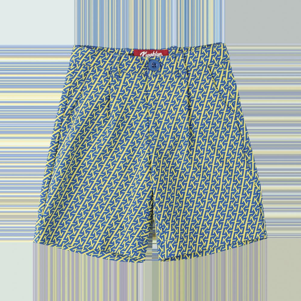 K'rooklyn Exclusive Kids Short Pants -Navy & Yellow- (110cm)