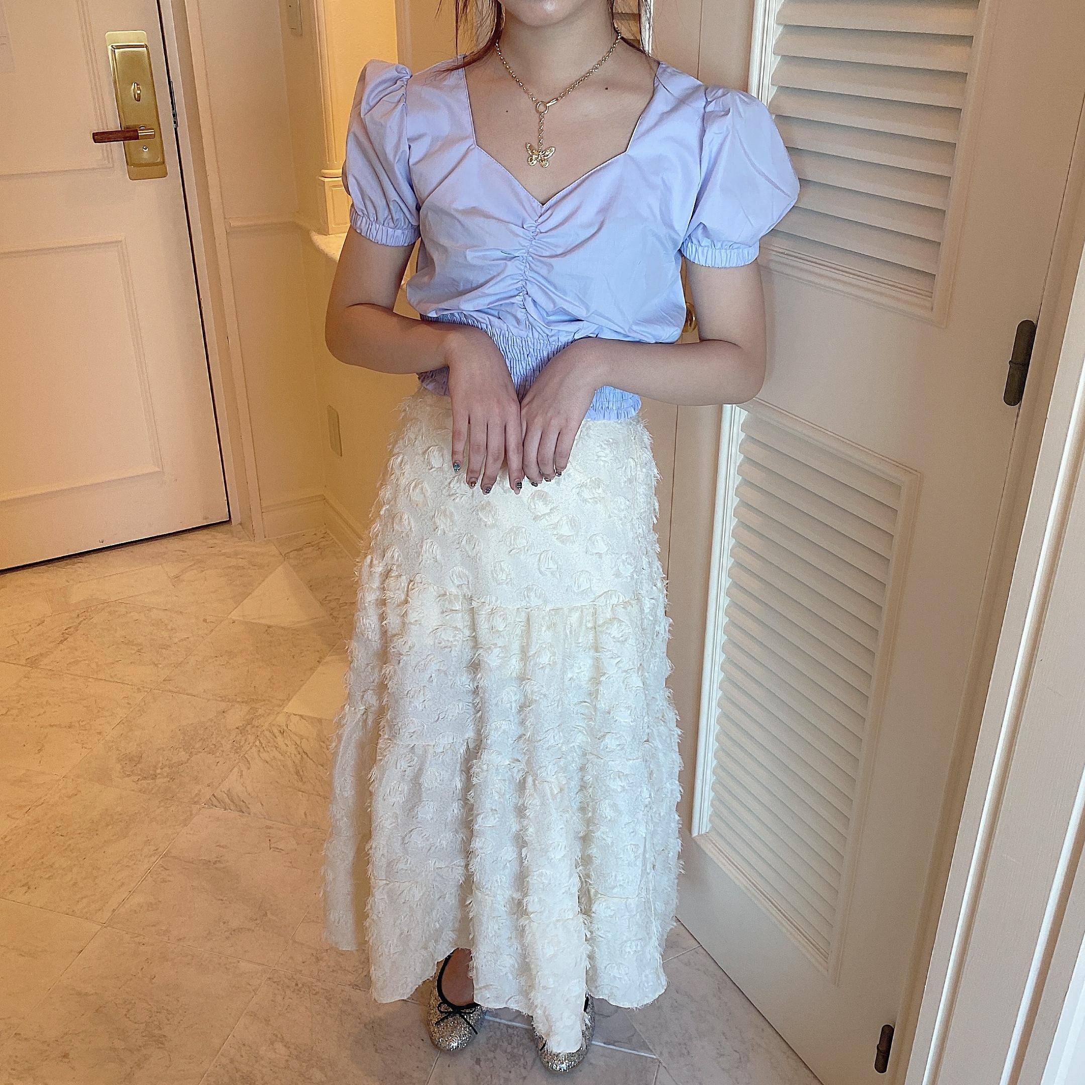 volume flower skirt