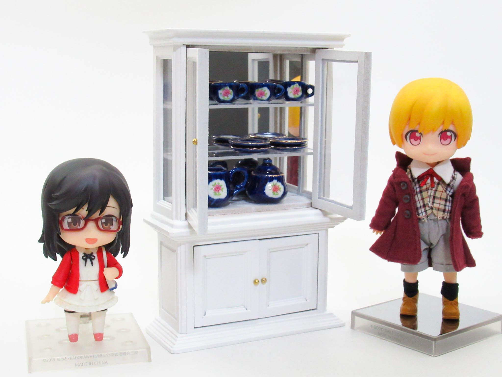ミニチュア ショーケース(白)【ミニチュア家具・ドールハウス】