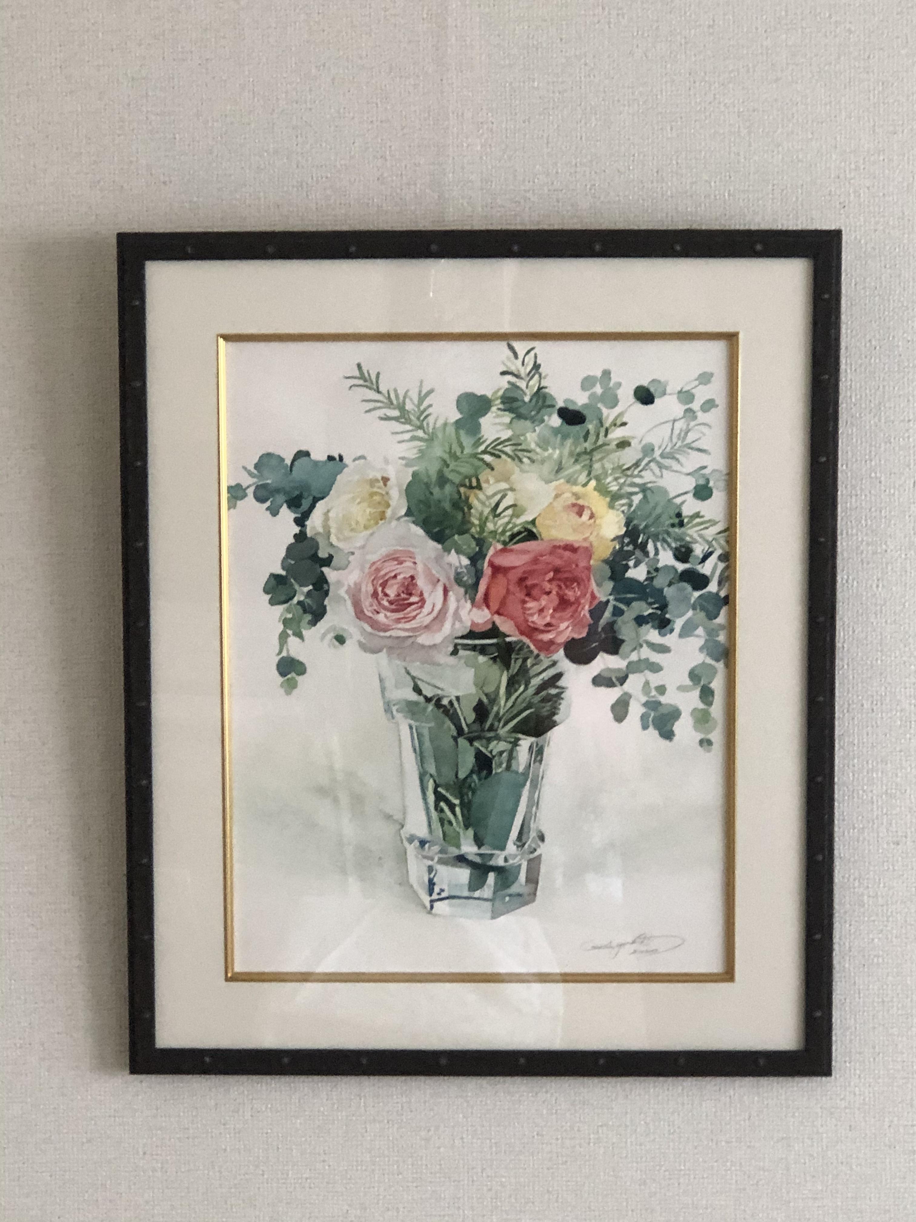 F6サイズ バラの水彩画描きおこしオーダー - F6 size rose watercolor drawing order