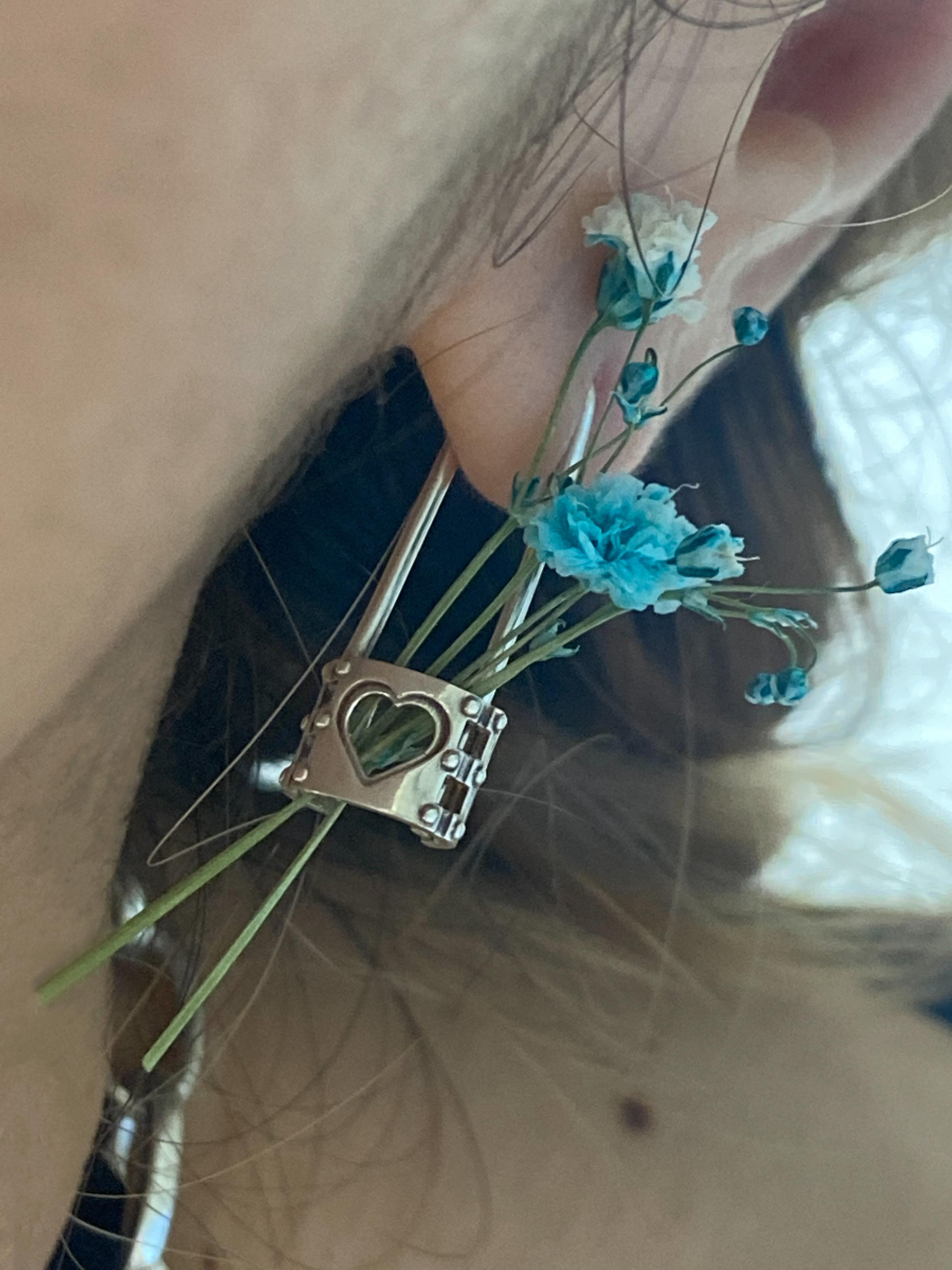 handcuffs pin earring SILVER925/18G  #LJ18020P 手枷 ピン ピアス シルバー925/18G