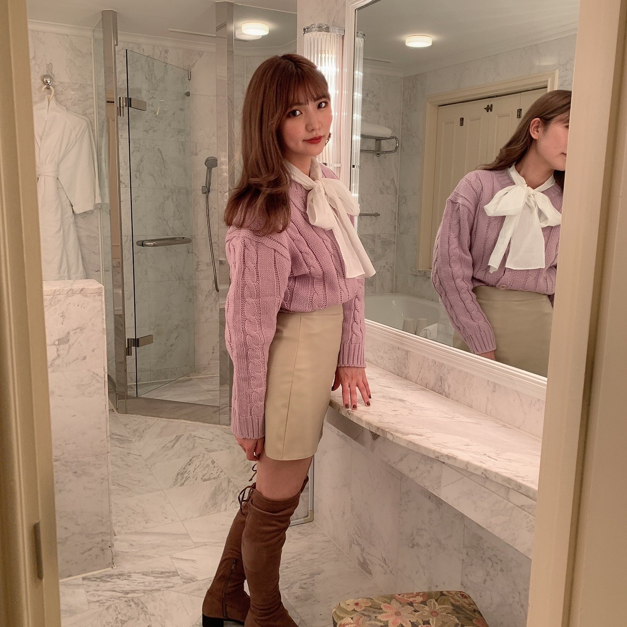 【feellie】ribbon tie blouse