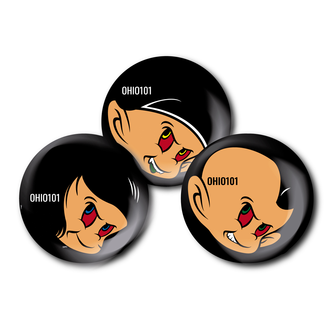 OHIO101 THREE badge SET