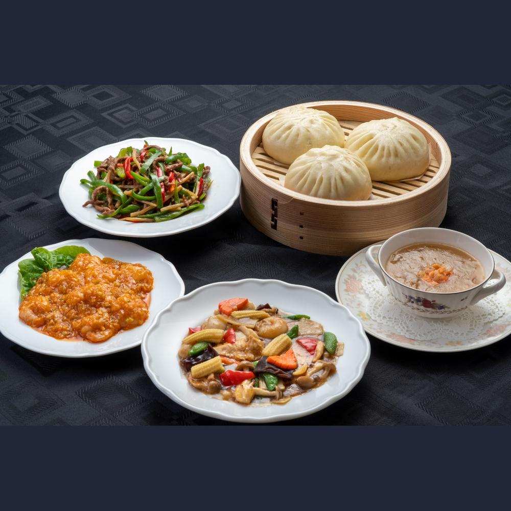 【上海菜館】中華ディナー5点セット/冷凍
